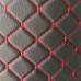 Экокожа стеганая черная Ромб с красной строчкой