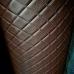 Перфорированная кожа темно-коричневая (ромб)