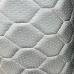 Экокожа стеганая серая сота (белая строчка)