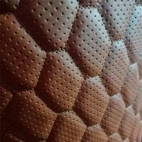 Перфорированная кожа коричневая (сота)