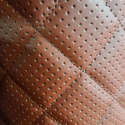 Перфорированная кожа Коричневая (Ромб)