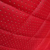 Перфорированная кожа красная (ромб)