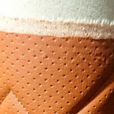 Перфорированная кожа Оранжевая (Ромб)