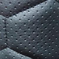 Перфорированная кожа черная (большая сота)