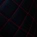 Перфорированная кожа черная (красные нитки)