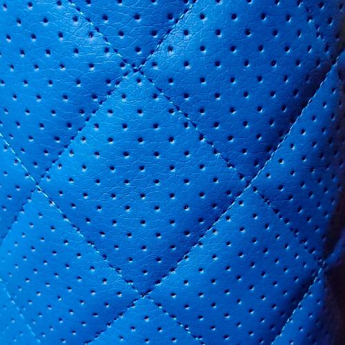 Перфорированная кожа Синяя (Ромб)