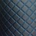 Перфорированная кожа Черная (Синие нитки)