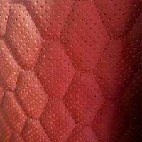 Перфорированная кожа красная (сота)
