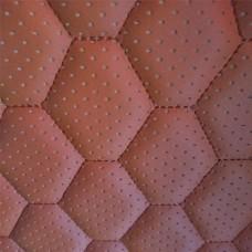 Перфорированная кожа светло-коричневая (сота)