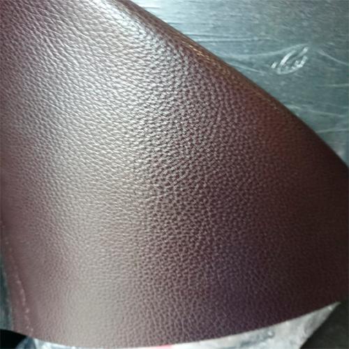 Пресованная кожа коричневая со слоем ПВХ