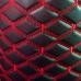 Экокожа ПВХ Черная Ромб Тройная Стежка (Красные Нитки)