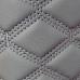 Экокожа ПВХ Серый широкий ромб (серые нитки)