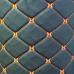 Экокожа ПВХ ромб черная (оранжевые нитки)