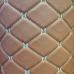 Экокожа ПВХ ромб светло-коричневый (белые нитки)