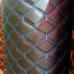 Экокожа ПВХ Черный широкий ромб (синие нитки)