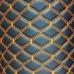 Экокожа ПВХ Черный широкий ромб (оранжевые нитки)